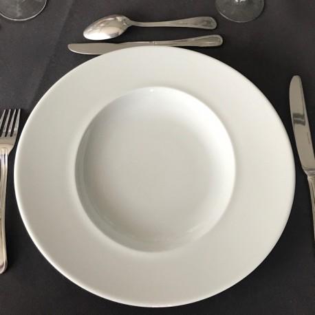 Assiette ronde avec ellipse 31cm