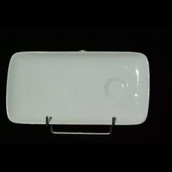 Assiette carrée écaille 19x19 cm