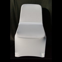 Housse de chaise blanche pour chaise coque